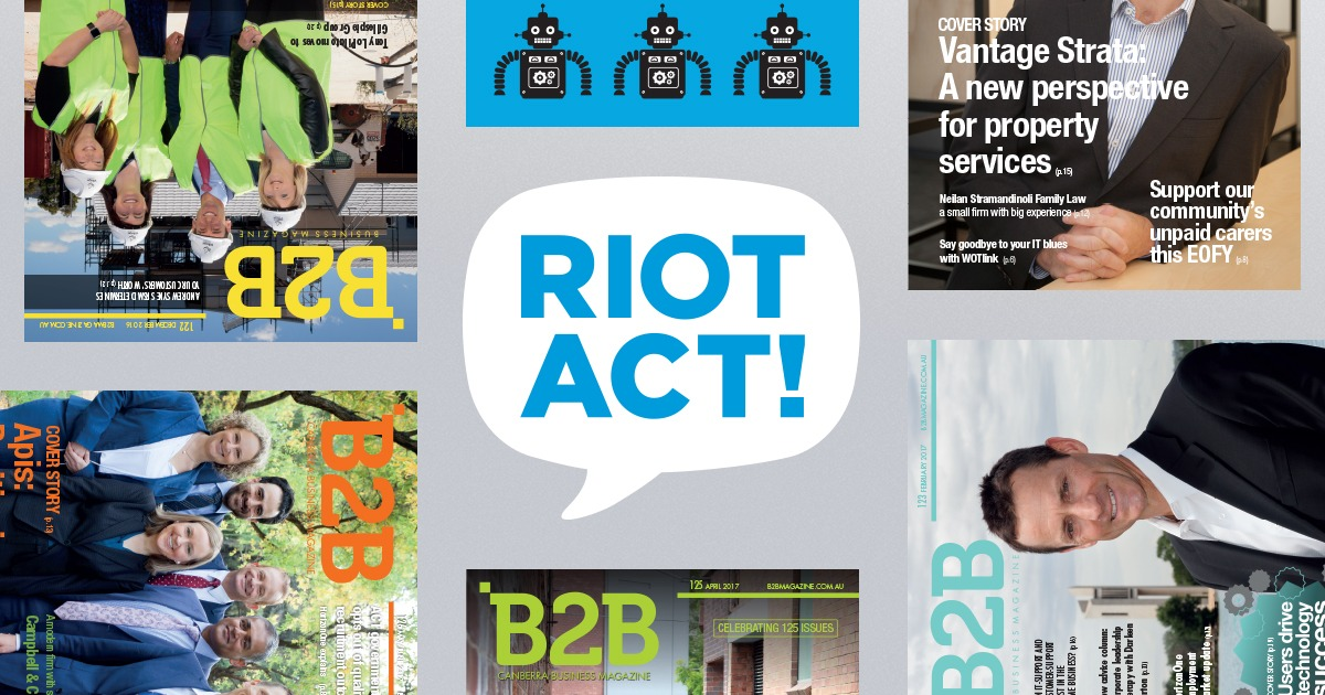 B2B Magazine joining forces with the RiotACT