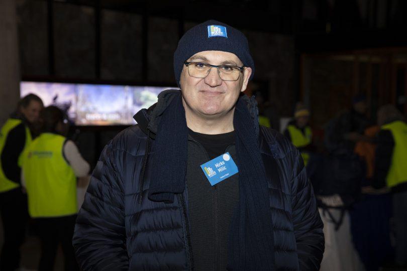 Mirko Milic at Vinnies CEO Sleepout